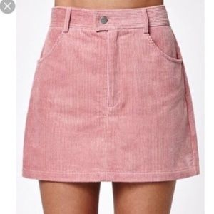 Kendall & Kyle Pink Corduroy mini skirt NWOT